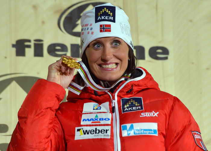 Сочи. Скиатлон. Первое место у Марит Бьорген. Фото: ANDREAS SOLARO/AFP/Getty Images