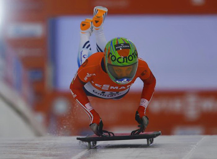 Елена Никитина стала третьей на Кубке мира по бобслею и скелетону 2013. Фото: Todd Korol/Getty Images