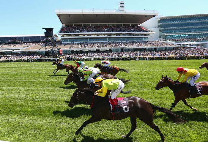 Конные скачки прошли 1 ноября 2013 года на арене Флемингтон в День дерби. Это один из трёх главных дней карнавала Кубка Мельбурна в Австралии. Фото: Robert Cianflone/Getty Images