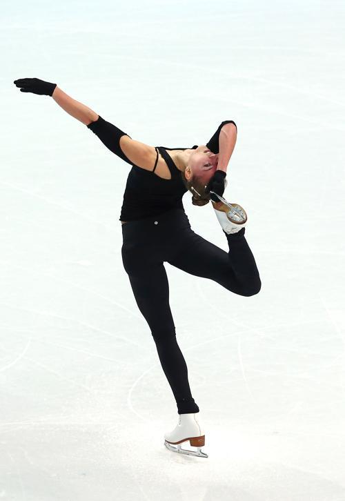 Представительница Украины Наталья Попова вышла на тренировку в Сочи 5 февраля перед началом Олимпийских игр. Фото: Streeter Lecka/Getty Images