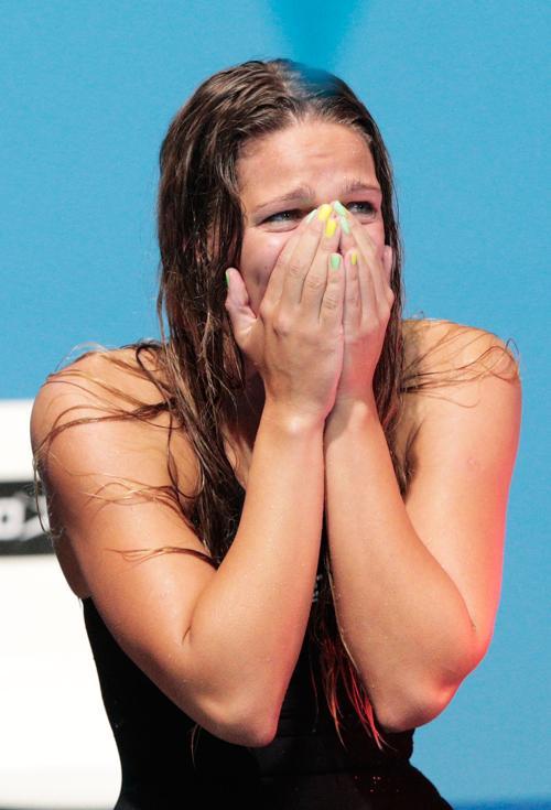 Российская сборная выиграла бронзу на Чемпионате мира по водным видам спорта 4 августа 2013 года в Барселоне (Испания). Фото: Adam Pretty/Getty Images