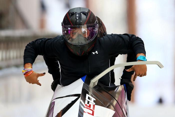 Лорин Уильямс и Джейми Грюбел из СЩА впервые вышли на тренировку в Сочи 5 февраля 2014 года перед началом Олимпийских игр. Фото: Alex Livesey/Getty Images