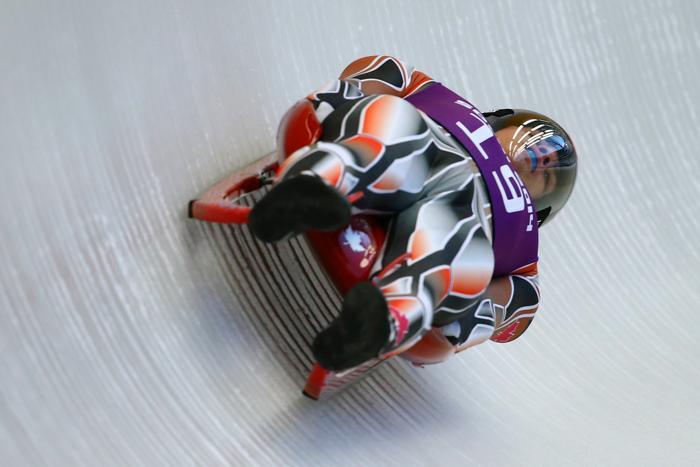 Джон Феннелл из Канады впервые вышел на тренировку в Сочи 5 февраля 2014 года перед началом Олимпийских игр. Фото: Al Bello/Getty Images