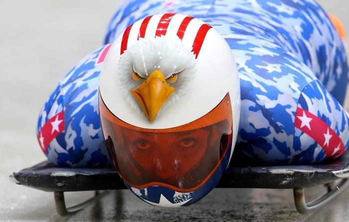 Кэти Уландер из США вышла на тренировку в Сочи 5 февраля 2014 года перед началом Олимпийских игр. Фото: Alex Livesey/Getty Images