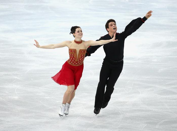 Скотт Моир иТесса Вирчу выступили 9 февраля в командном турнире по фигурному катанию на Олимпиаде в Сочи. Фото: Robert Cianflone/Getty Images
