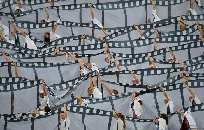 Торжественная церемония открытия четырнадцатого Чемпионата мира по лёгкой атлетике ИИАФ состоялась 10 августа 2013 года на московском стадионе «Лужники». Фото: ANTONIN THUILLIER/AFP/Getty Images