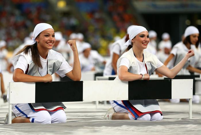 Торжественная церемония открытия четырнадцатого Чемпионата мира по лёгкой атлетике ИИАФ состоялась 10 августа 2013 года на московском стадионе «Лужники». Фото: Cameron Spencer/Getty Images