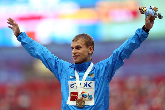 Александр Иванов 10 августа 2013 года принёс для России первое золото Чемпионата мира по лёгкой атлетике. Фото: Mark Kolbe/Getty Images