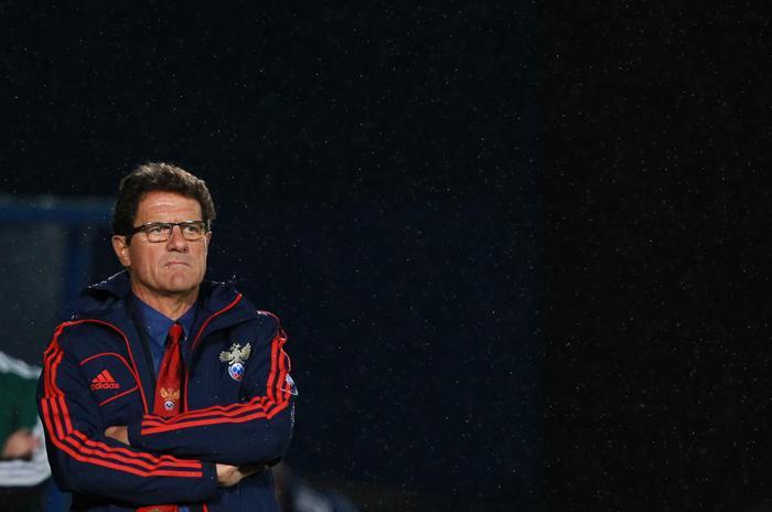 Российская футбольная сборная в отборочном матче Чемпионата мира 14 августа 2013 года в Белфасте уступила команде Сборной Ирландии, не реализовав ни одного удара по воротам соперника. Фото: PETER MUHLY/AFP/Getty Images
