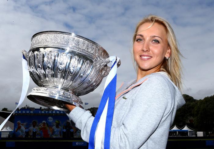 Елена Веснина выиграла главный трофей турнира WTA в Истбурне (Англия). Фото: Jan Kruger/Getty Images