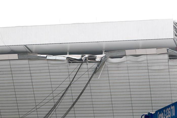 Строительный кран упал на стадион клуба «Коринтианс» в Сан-Паулу, предназначенный для проведения Чемпионата мира по футболу 2014. Фото: Ricardo Bufolin/Getty Images