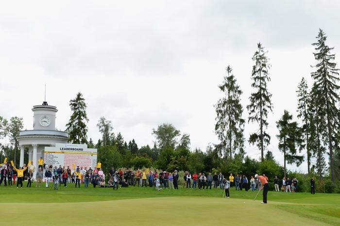 Российский этап европейского гольф-тура в «Целеево гольф и поло клубе» в Подмосковье 28 июля 2013 года. Фото: Ian Walton/Getty Images