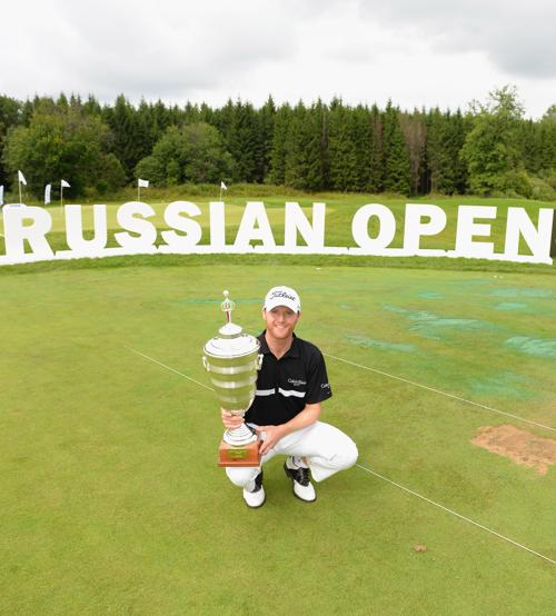 Майкл Хой стал победителем российского этапа европейского гольф-тура в «Целеево гольф и поло клубе» в Подмосковье 28 июля 2013 года. Фото: Ian Walton/Getty Images