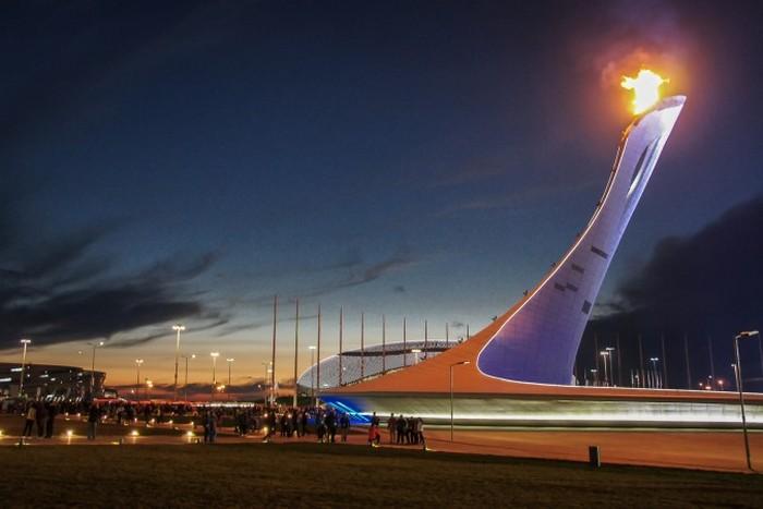 Олимпийский факел в Сочи. Фото: Pasha Kovalenko/Epoch Times