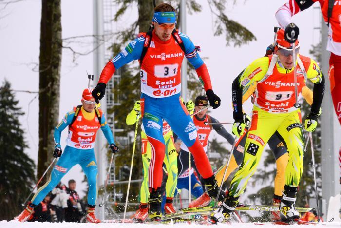 «Золото» принесла России эстафета мужской сборной по биатлону. Фото: KIRILL KUDRYAVTSEV/AFP/Getty Images