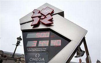 Лондон-2012. Часы с обратным отсчетом  времени до Олимпиады-2012. Фото: Peter Macdiarmid/Getty Images