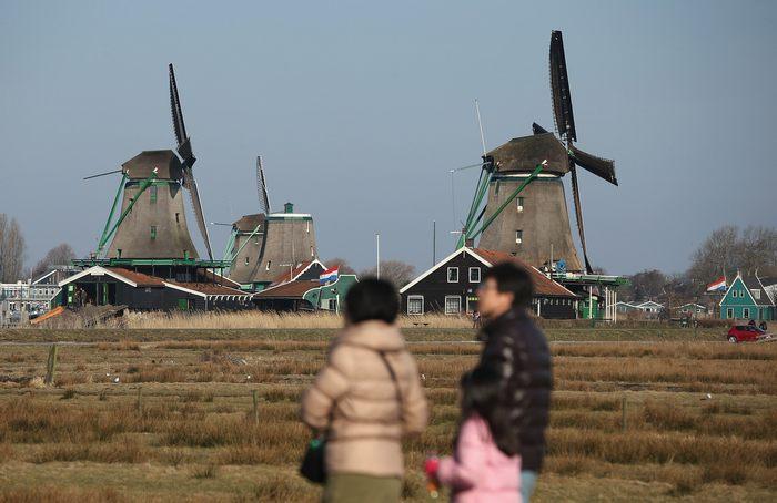 Музей под открытым небом в нидерландской деревне Заансе-Сханс 1 апреля 2013 г. Фото: Sean Gallup/Getty Images