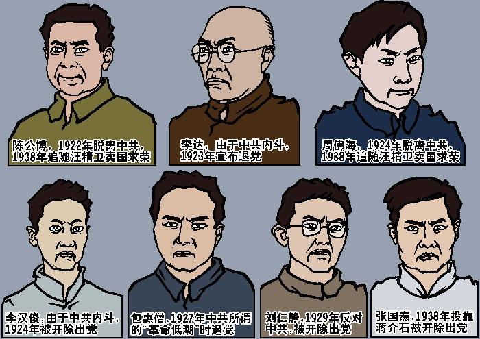 Представители компартии, которые присутствовали на первом съезде КПК. Иллюстрация: Великая Эпоха (The Epoch Times)