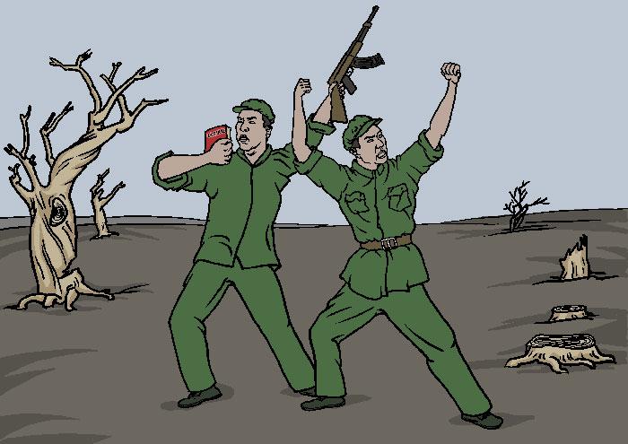 Борьба с Небом и Землёй, разрушение экологической системы. Иллюстрация: Великая Эпоха (The Epoch Times)