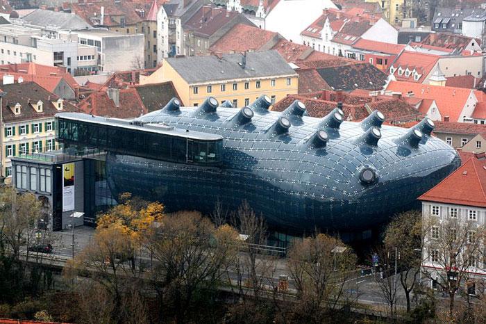 Кунстхаус в городе Грац, Австрия. Фото: Marion Schneider/commons.wikimedia.org