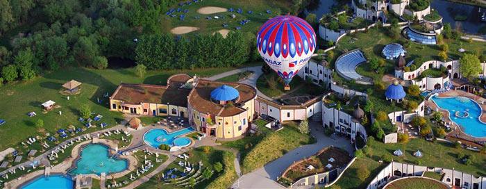 Отель Rogner Bad Blumau с высоты птичьего полета. Фото: Anja/flickr.com