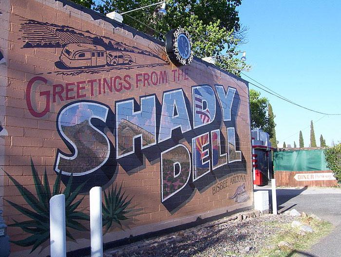 Вывеска отеля The Shady Dell в Аризоне, США. Фото: Randomgbear/commons.wikimedia.org