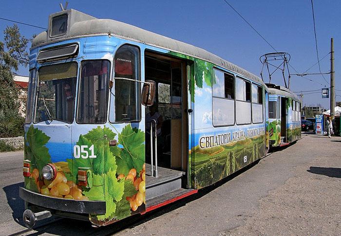 Евпаторийский трамвай. Фото: 17Rising17/commons.wikimedia.org
