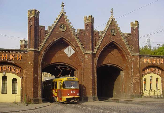 Бранденбургские ворота — единственные городские ворота Калининграда, до сих пор использующиеся по прямому назначению, Россия. Фото: Sapfan/commons.wikimedia.org