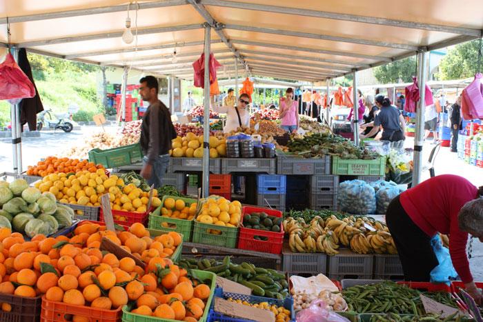Продажа фруктов на рынке, Никосия. Фото: MONA BOSHNAQ/AFP/Getty Images