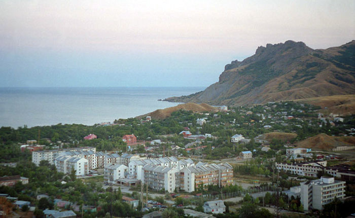 Панорама Коктебеля, Украина. Фото: ru:Участник:Lite/commons.wikimedia.org