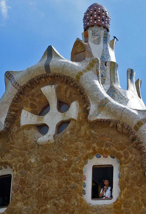 Пряничные домики в парке Гуэль, Барселона, Испания. Фото: CESAR RANGEL/AFP/Getty Images
