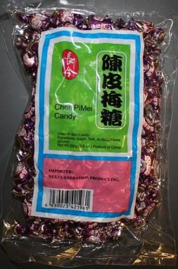 Упаковка китайских слив из партии заражённой свинцом. Фото предоставлено управлением здравоохранения штата Калифорния, США