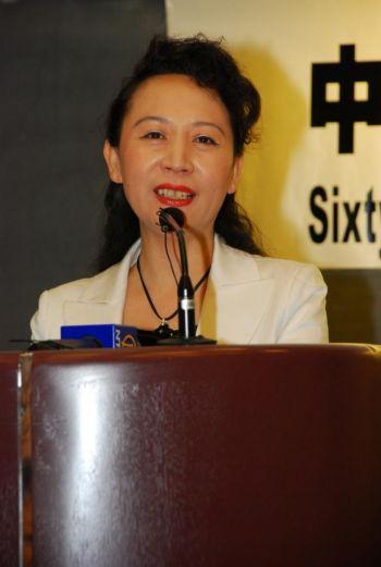 Шен Сюэ выступает на форуме, посвященном Китаю, в Ванкувере, Британская Колумбия,  в сентябре 2009 г. Фото: Хелена Чжу/ Великая Эпоха