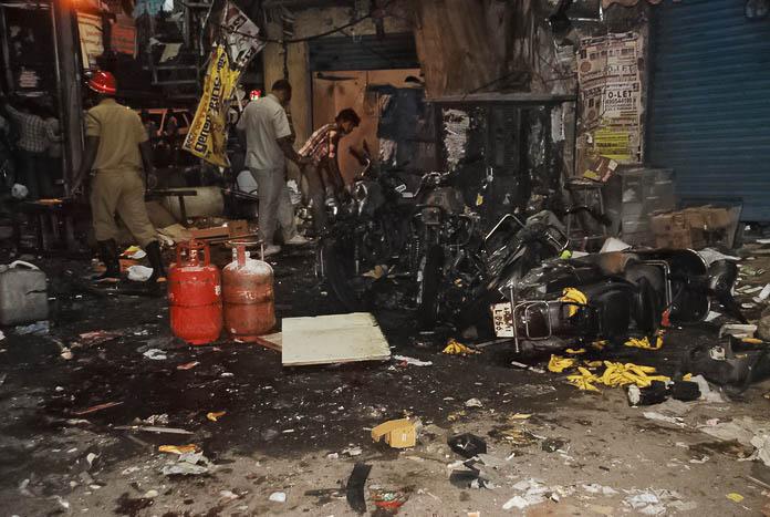 Место взрыва двух бомб в Хайдарабаде, 21 февраля 2013 года. Фото: Rajesh Khanna Atmakur/The Epoch Times