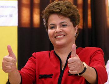 Дилма Руссефф станет первой женщиной-президентом Бразилии. Фото: JEFFERSON BERNARDES/Getty Images