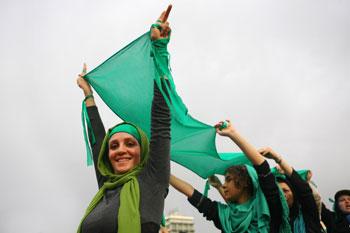 Фото Саеди , протест оппозиции Ирана 2009 года Фото:Majid Saeedi /Getty Images