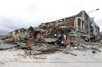 Крайстчерч, Новая Зелландия: мощное землетрясение привело к человеческим жертвам. Фото: Martin Hunter /Getty Images