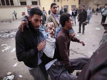 Пострадавшие в ходе протестов в Сириии. Фото с newsru.co.il