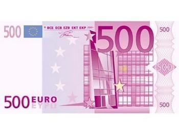 Образец банкноты достоинством 500 евро. Иллюстрация с bundesbank.de