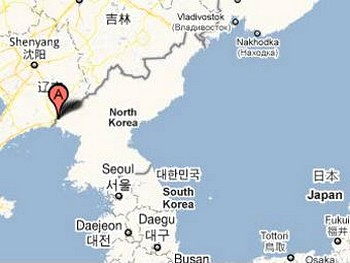 Город Синычжу на карте. Изображение с maps.google.com