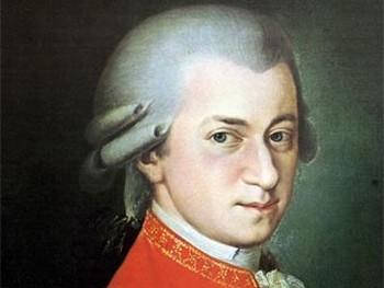 Фрагмент портрета Моцарта кисти Барбары Краффт