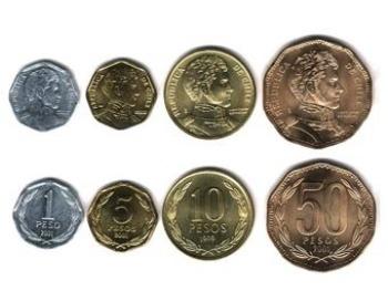 Чилийские песо. Фото с coins.about.com