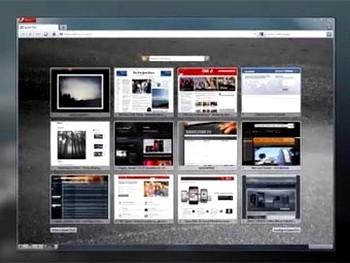 Кадр видеопрезентации Opera 10.60