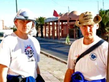 Сергей и Александр Синельники в Эль Аюне. Фото с официального сайта братьев