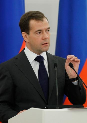 Президент Дмитрий Медведев готовит «загадочную» конференцию. Фото: DMITRY ASTAKHOV/AFP/Getty Images