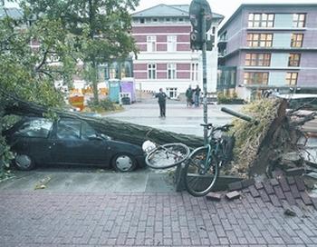 В Германии бушует непогода. Фото с mittelbayerische.de