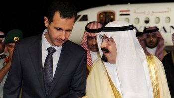 Саудовский король Абдулла (справа) с президентом Сирии Асадом в октябре 2010  года. Фото: sueddeutsche.de
