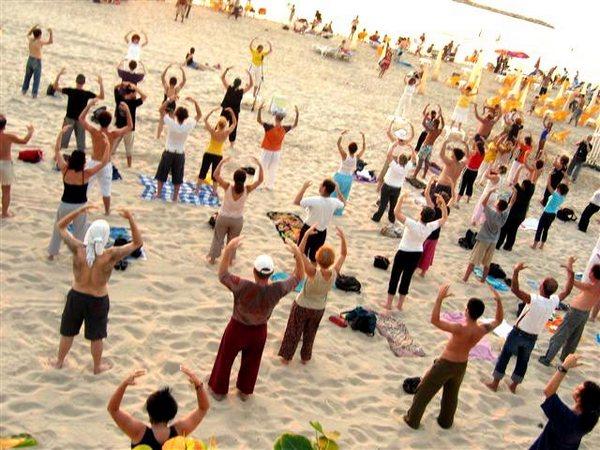 Выполнение упражнений Фалуньгун. Тайвань. Фото: ru-enlightenment.org
