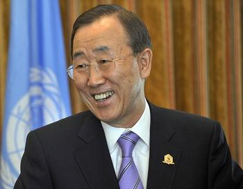 Пан Ги Мун прибыл на Кипр. Фото:  SIMON MAINA/AFP/Getty Images