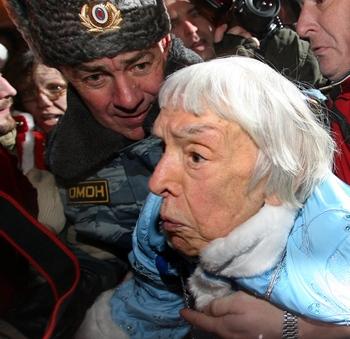 Арест правозащитников  в России. Фото: SAZONOV/AFP/Getty Images